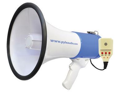 Pyle Pro Megaphone & Strap Mega Phone 50w Pistol Grip Loud Speaker With Aux In Thumbnail 1