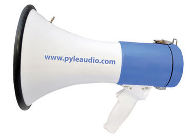Pyle Pro Megaphone & Strap Mega Phone 50w Pistol Grip Loud Speaker With Aux In Thumbnail 4