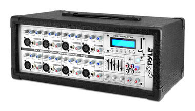 Pyle PMX802M 8 Channel 800w Powered Active Amplified DJ Mixer Amp MP3 USB Thumbnail 1