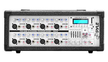 Pyle PMX802M 8 Channel 800w Powered Active Amplified DJ Mixer Amp MP3 USB Thumbnail 3