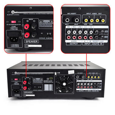 Pyle PMXAKB1000 Bluetooth 1000-Watt Karaoke Mixer with Two Microphone Inputs, RCA Audio/Video and Rack Mountable Thumbnail 5