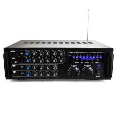 Pyle PMXAKB1000 Bluetooth 1000-Watt Karaoke Mixer with Two Microphone Inputs, RCA Audio/Video and Rack Mountable Thumbnail 4