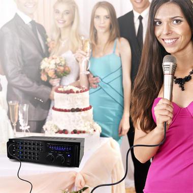 Pyle PMXAKB1000 Bluetooth 1000-Watt Karaoke Mixer with Two Microphone Inputs, RCA Audio/Video and Rack Mountable Thumbnail 6