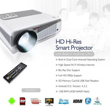 PYLE-HOME PRJAND615 PROJECTOR  HD, ANDROID W/ 5.8INCH LCD Thumbnail 7