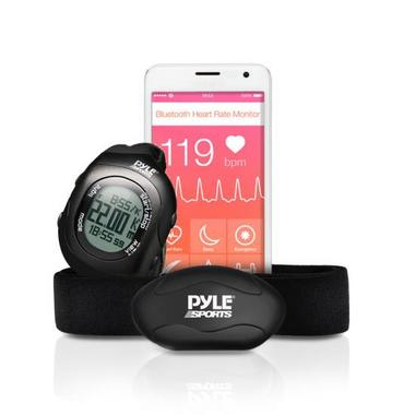 Pyle PSBTHR70BK Bluetooth Fitness Heart Rate Monitoring Watch iPhone Android Thumbnail 1