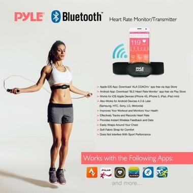 Pyle PSBTHR70BK Bluetooth Fitness Heart Rate Monitoring Watch iPhone Android Thumbnail 6