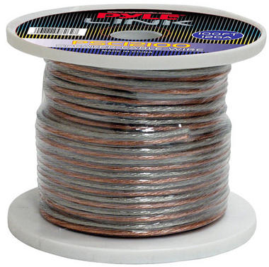 Pyle PSC12100 12 Gauge 100 ft. Spool of High Quality Speaker Zip Wire Thumbnail 1