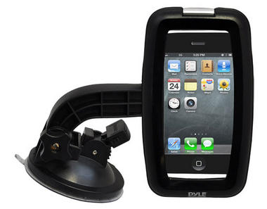 Pyle-SPORT PSIC55 Armoured Suction Cup Mount Mobile Phone Bracket For Smartphone Thumbnail 1