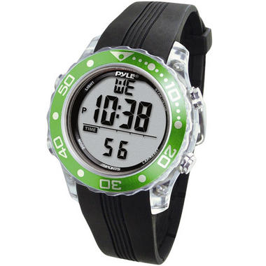 Pyle PSNKW30GN Snorkeling Swimming Sports Diving Watch Depth Temp Meter Thumbnail 1