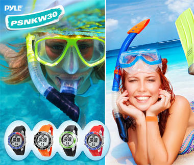 Pyle PSNKW30GN Snorkeling Swimming Sports Diving Watch Depth Temp Meter Thumbnail 4