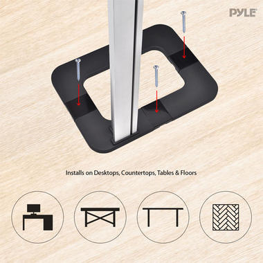 Pyle Anti-Theft iPad/Tablet Kiosk Public Display Floor Stand (Works with iPad Generations 1/2/3/4 and iPad Air) Thumbnail 5