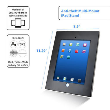 Pyle PSPADLKW5 Anti-Theft Kiosk Multi-Mount Stand for iPad 2/3/4 & iPad Air Thumbnail 6