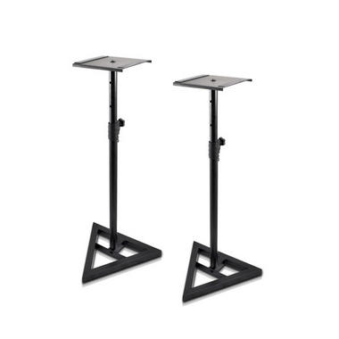 Pyle PSTND35 Heavy Duty Telescoping Speaker Stands with Height Adjustment, Set of 2 Thumbnail 1
