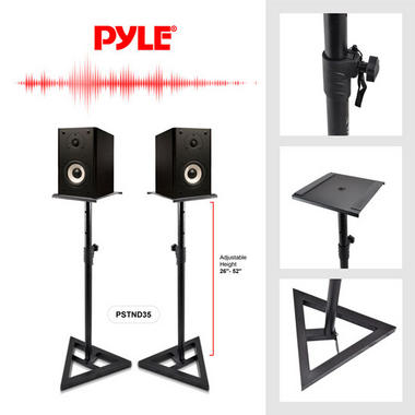 Pyle PSTND35 Heavy Duty Telescoping Speaker Stands with Height Adjustment, Set of 2 Thumbnail 3