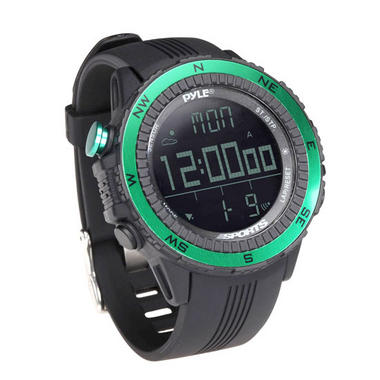 Pyle PSWWM82GN Sports Hiking Watch Altimeter Barometer Chronograph Compass Thumbnail 1