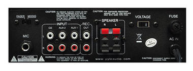 PyleHome PTA4 Mini 2x 120W Stereo Power Amplifier with AUX, CD and Mic Input Thumbnail 4