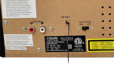 PyleHome PTCD8UB Retro Style Turntable with CD/Radio/USB/SD/MP3/WMA Vinyl Thumbnail 4