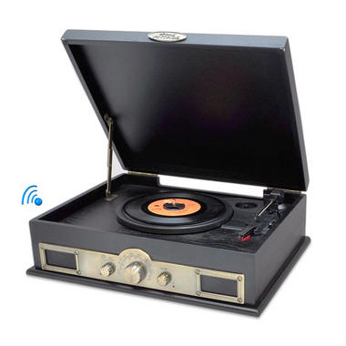 PYLE-HOME PTT30BK CLASSICAL TURNTABLE WITH AM/FM RADIO Thumbnail 1