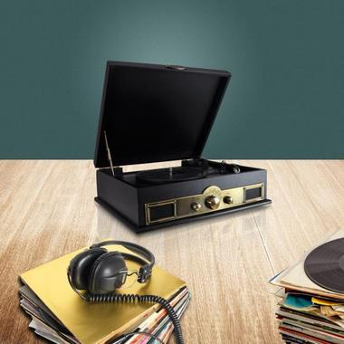 PYLE-HOME PTT30BK CLASSICAL TURNTABLE WITH AM/FM RADIO Thumbnail 7