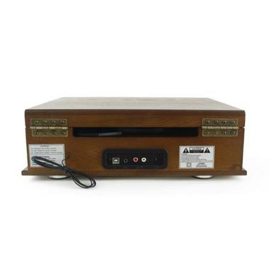 PYLE-HOME PTT30WD CLASSICAL TURNTABLE WITH AM/FM RADIO Thumbnail 4