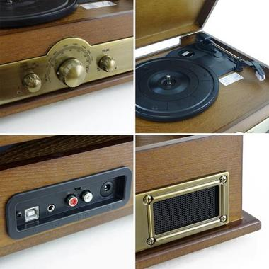 PYLE-HOME PTT30WD CLASSICAL TURNTABLE WITH AM/FM RADIO Thumbnail 5