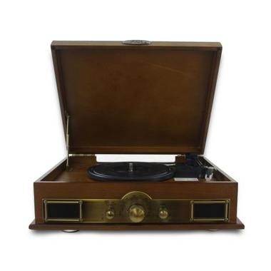 PYLE-HOME PTT30WD CLASSICAL TURNTABLE WITH AM/FM RADIO Thumbnail 3