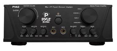 Pyle PVA2 60w Stereo Hi-Fi Mini iPod Amp Amplifier Witb Mic Microphone Input Thumbnail 1