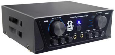Pyle PVA2 60w Stereo Hi-Fi Mini iPod Amp Amplifier Witb Mic Microphone Input Thumbnail 3