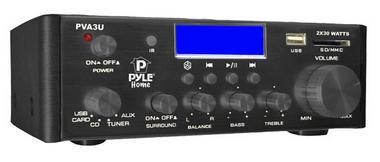 Pyle PVA3U 60W Stereo Hi-Fi Mini iPod Amplifier USB SD MP3 Player Receiver Thumbnail 1