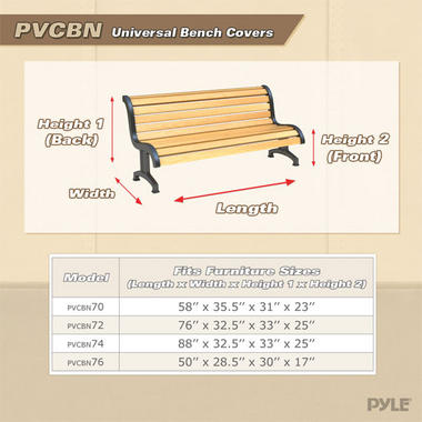 """PYLE-HOME PVCBN72 FITS LOVESEATS UP TO 76""""L 32.5""""W 33""""H(BA Thumbnail 5"""