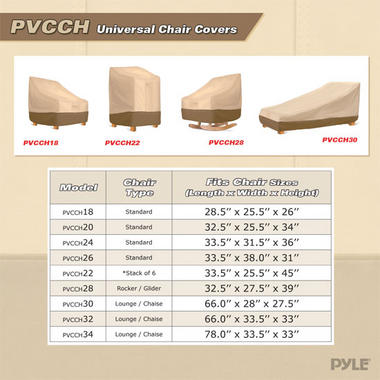 """PYLE-HOME PVCCH20 FITS CHAIRS WITH BACKRESTS UP TO 27""""H 32 Thumbnail 5"""
