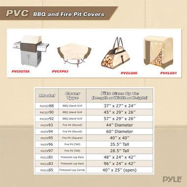 "PYLE-HOME PVCLG81 FITS 4'L LOG RACKS 48""L 24""W 42""H Thumbnail 5"