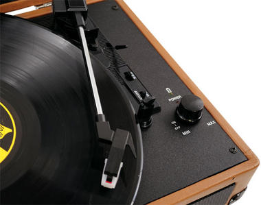 PVTT2UWD Rechargeable Retro Belt-Drive Turntable Built in Speakers & USB-to-PC Thumbnail 6