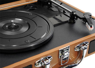 PVTT2UWD Rechargeable Retro Belt-Drive Turntable Built in Speakers & USB-to-PC Thumbnail 4