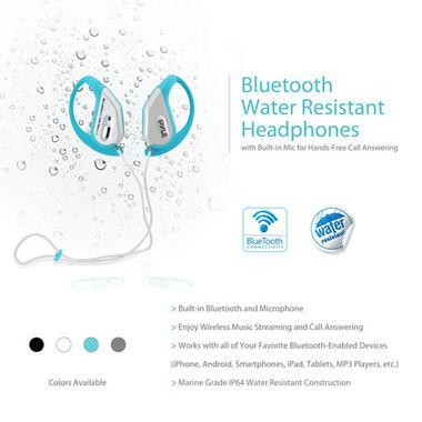 PWBH18BL Waterproof Bluetooth Swimming Wireless Earphones Built-in Mic Handsfree Thumbnail 4