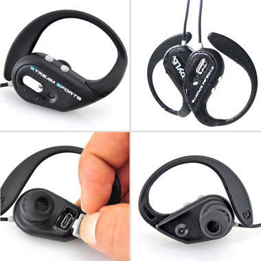 PWBH18BL Waterproof Bluetooth Swimming Wireless Earphones Built-in Mic Handsfree Thumbnail 3