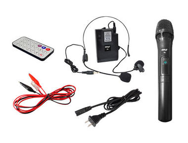 Pyle PWMA170 Dual Microphone 400w Wireless PA System Busking Battery Powered Thumbnail 5