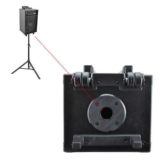 Pyle 500w Amplified Wireless Wired Microphone PA System Speaker & Ipod Dock Thumbnail 6