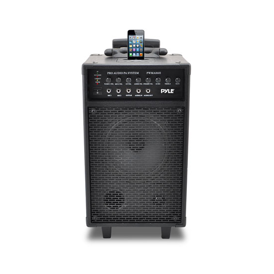 Pyle 500w Amplified Wireless Wired Microphone PA System Speaker & Ipod Dock Thumbnail 3