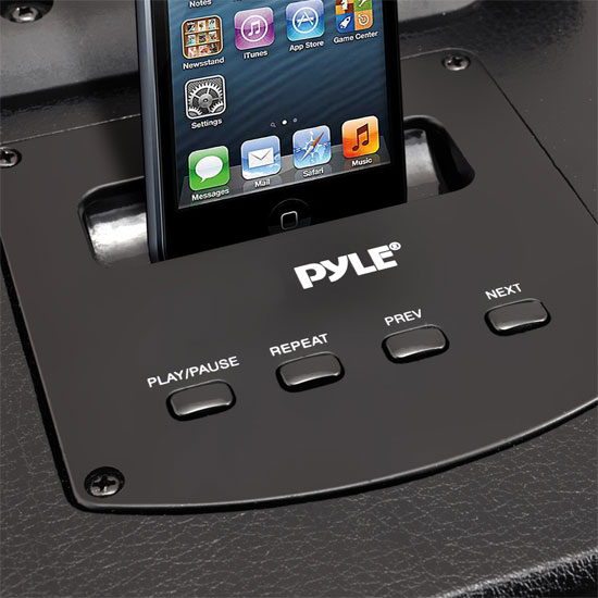 Pyle 500w Amplified Wireless Wired Microphone PA System Speaker & Ipod Dock Thumbnail 5