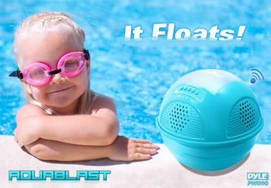 Pylehome PWR90DBK Aqua Blast Bluetooth Floating Pool Speaker System Black Thumbnail 3