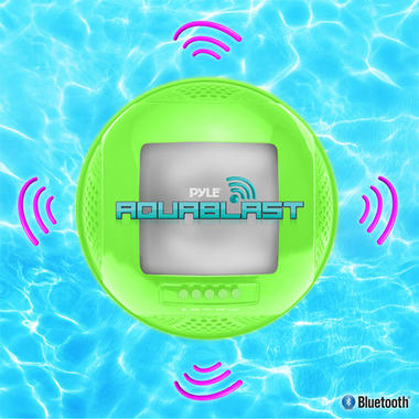 Pylehome PWR90DBK Aqua Blast Bluetooth Floating Pool Speaker System Black OUTER BOX WATER DAMAGED  Thumbnail 4