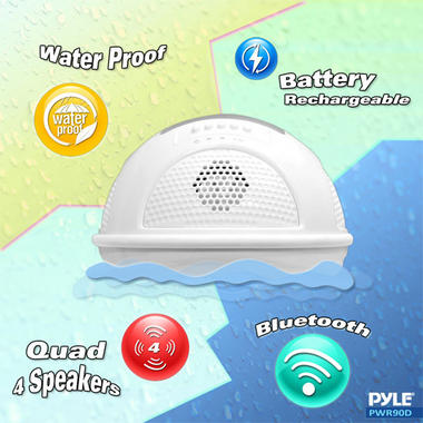 Pylehome PWR90DBK Aqua Blast Bluetooth Floating Pool Speaker System Black OUTER BOX WATER DAMAGED  Thumbnail 5