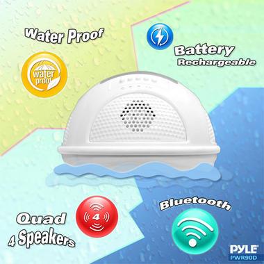 Pylehome PWR90DBK Aqua Blast Bluetooth Floating Pool Speaker System Black Thumbnail 5