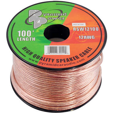 Pyramid RSW12100 12 Gauge 100 ft. Spool of High Quality Speaker Zip Wire Thumbnail 1