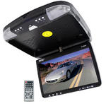 PLRD92 9'' FlipDown RoofMount Monitor & DVD Player Wireless IR & FM Modulator