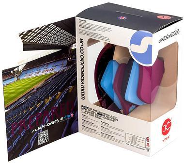 AVFC Aston Villa FC Official VIBE Over Ear Headphones Enchanced Sound Quality Thumbnail 3