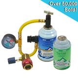 Car Aircon Air Con Regas DIY Kit With Leakstopper and High / Low Port Adaptor
