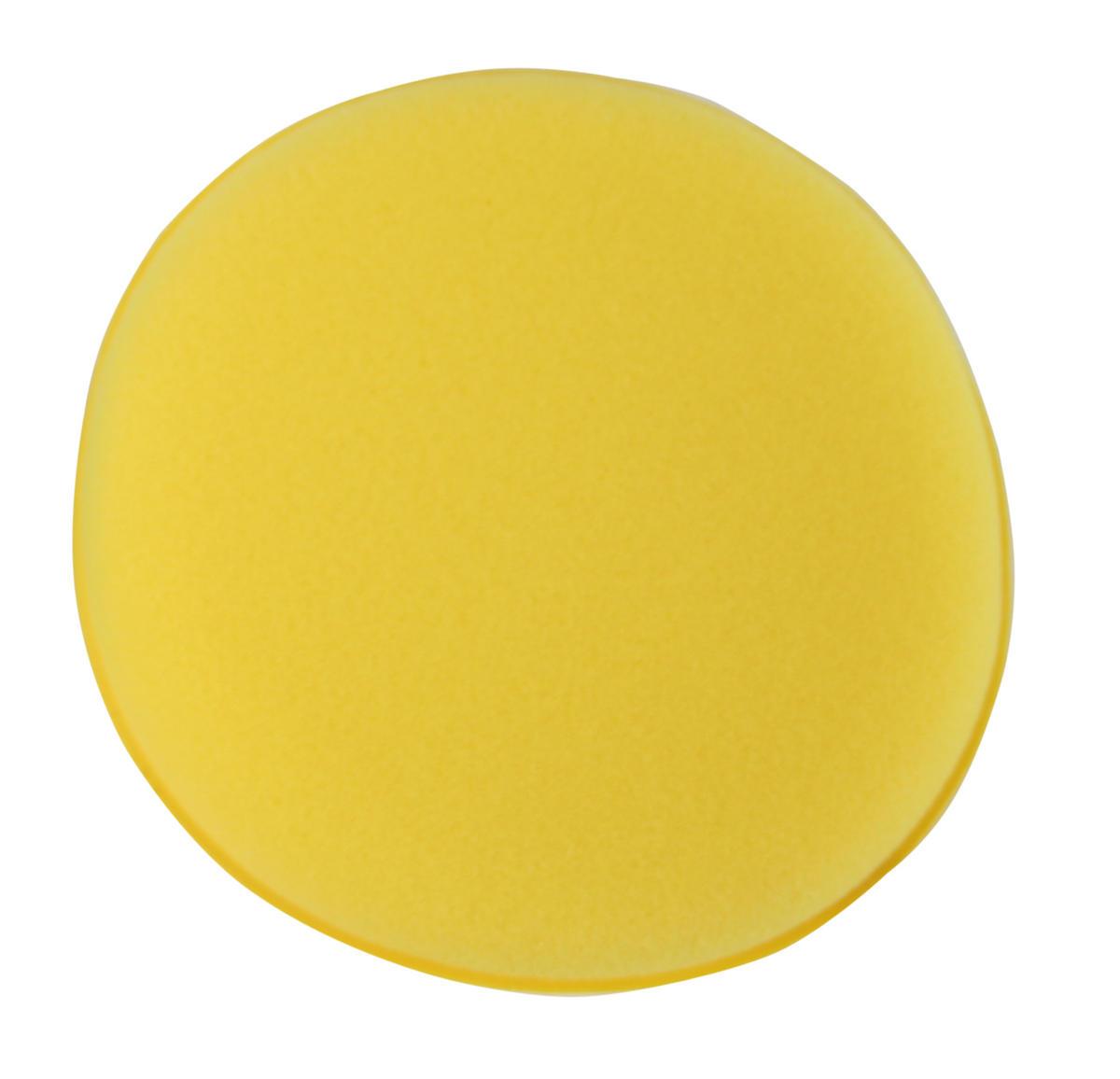 Kent Car Care Q9256 5'' Yellow Sponge Polish Applicator Pad