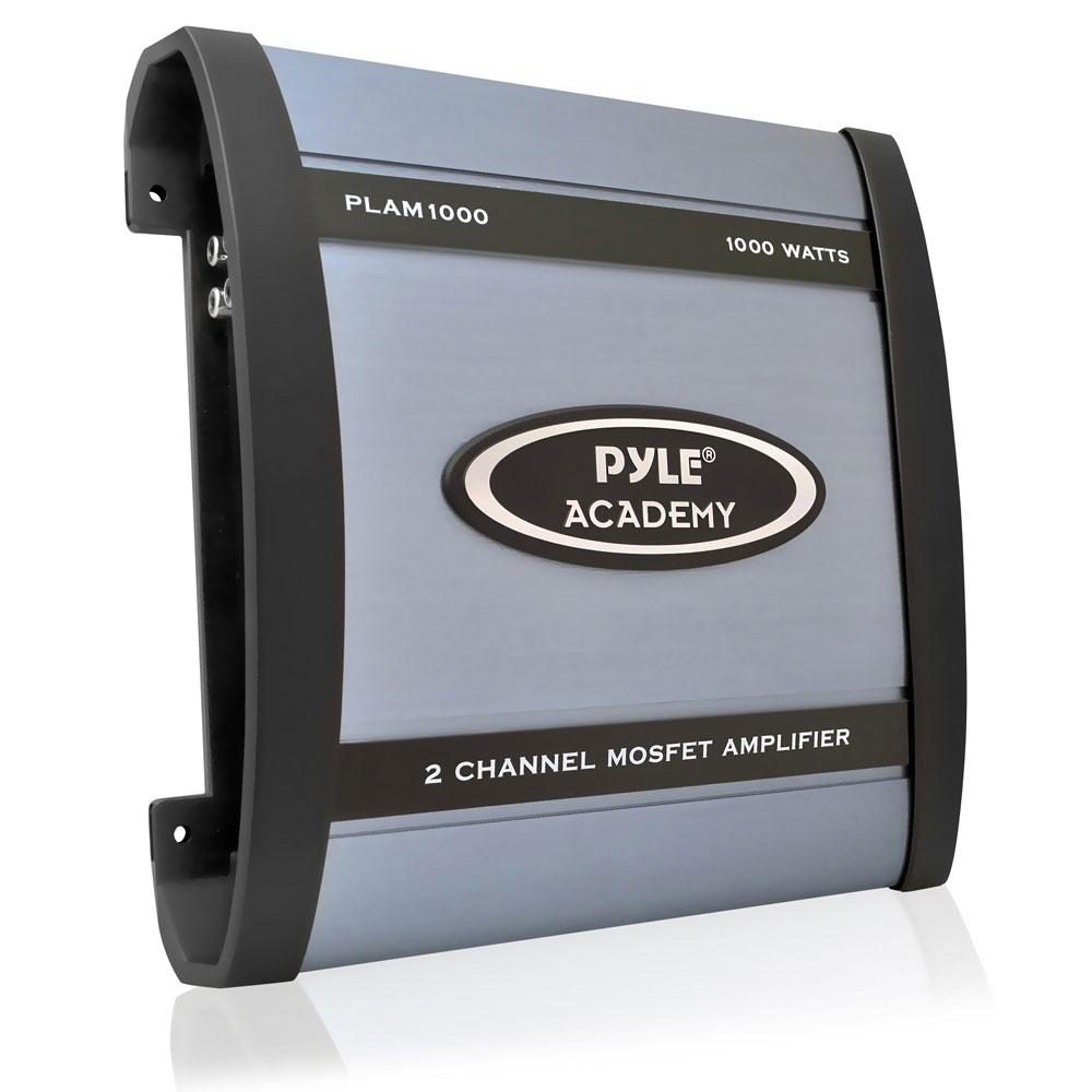 Pyle Academy 2 Ch Two Channel 1000w Blue Bridgeable Car Speaker Amplifier Amp